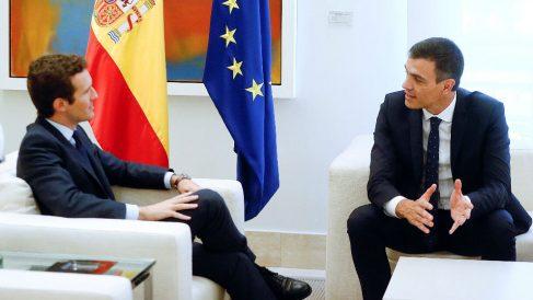 Pedro Sánchez y Pablo Casado.