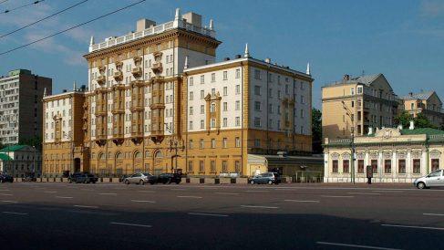 Embajada de Estados Unidos en Moscú, Rusia.