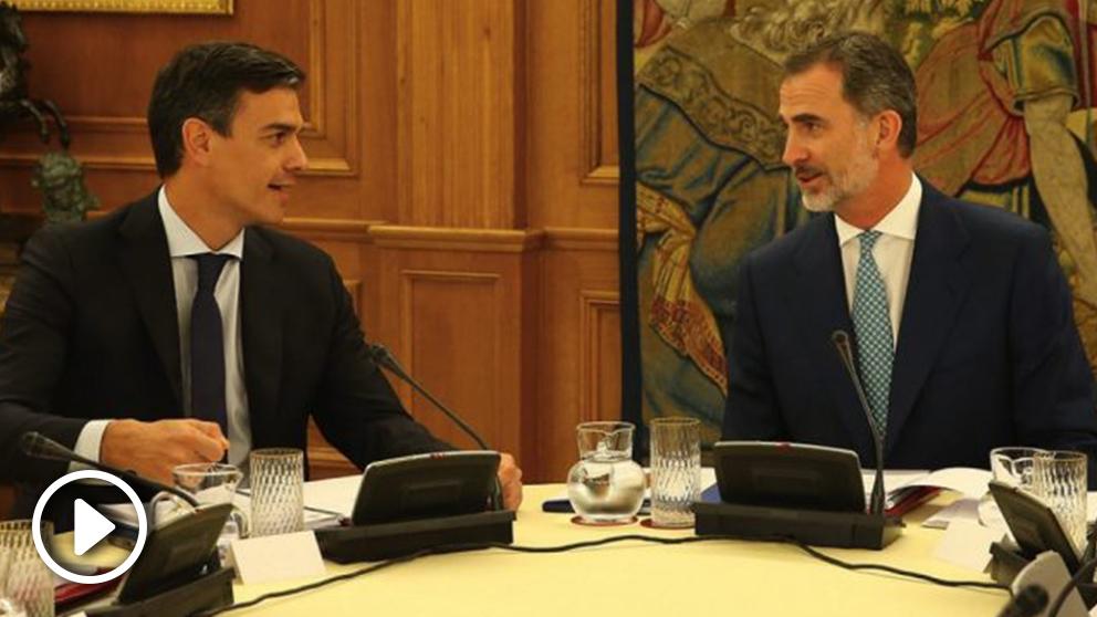 Pedro Sánchez y el Rey Felipe VI. (Foto. Moncloa)