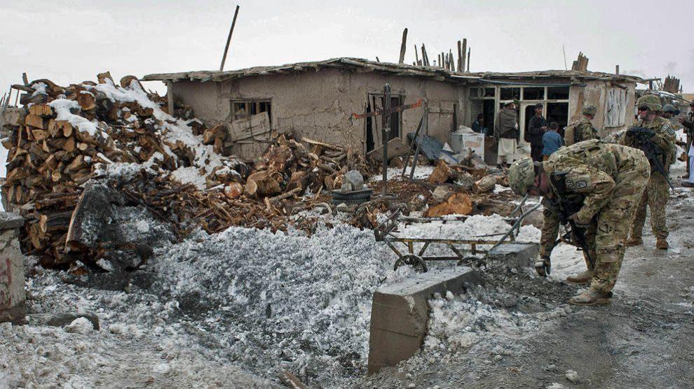 Imagen de un atentado en Afganistán.