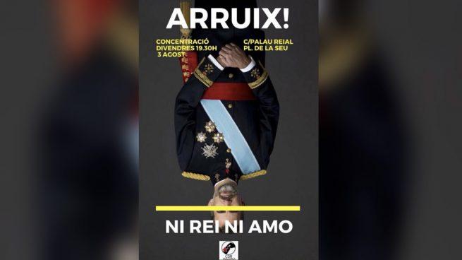Los radicales CDR convocan un 'escrache' al Rey en la recepción de esta tarde en La Almudaina