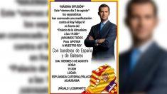 Convocatoria en apoyo al Rey en Mallorca.