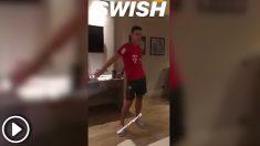 James Rodríguez, bailando el swish swish. (@Thiago6)