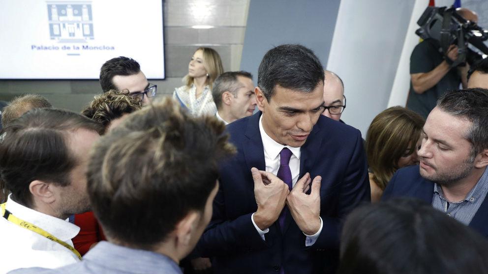 Pedro Sánchez, este viernes, en La Moncloa.