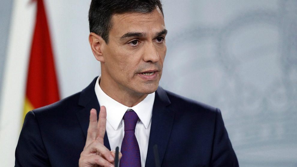 Pedro Sánchez, presidente del Gobierno, en Moncloa. (EFE)