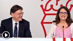 El president de la Generalitat, Ximo Puig, y la vicepresidenta del Consell, Mónica Oltra. (Foto: Efe)