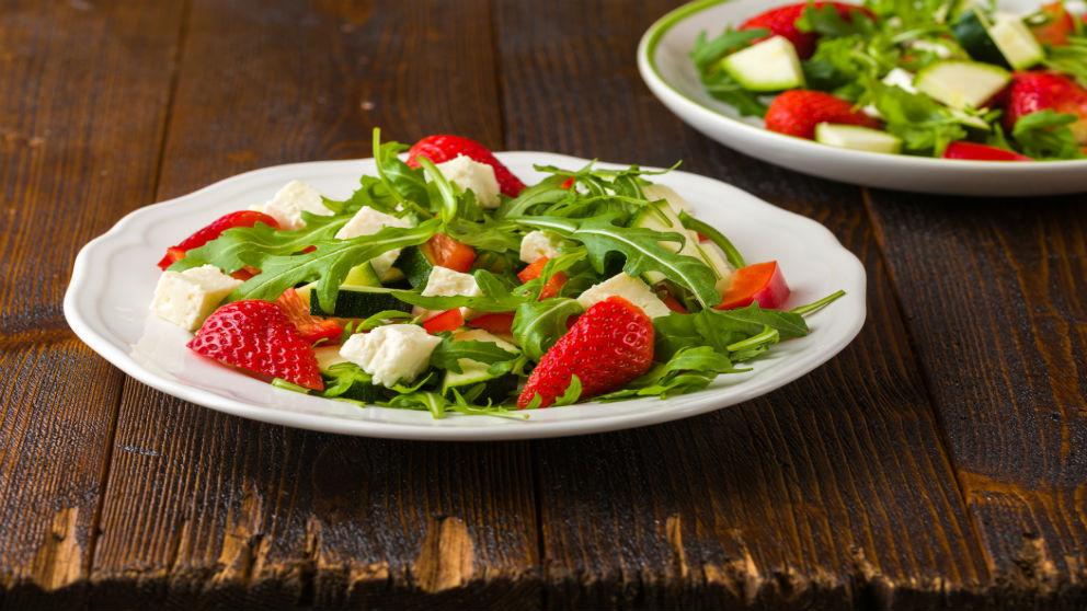 Receta de ensalada de fresas y queso