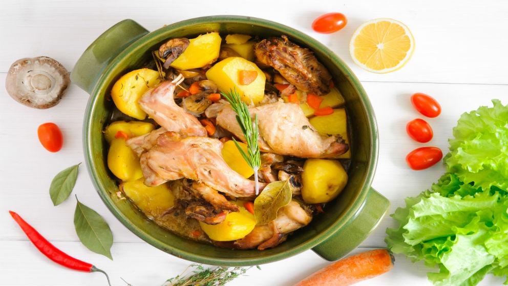Receta de liebre con patatas