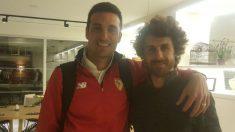 Lionel Scaloni y Pablo Aimar. (@lioscaloni)