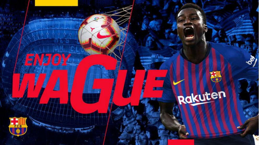 El Barcelona ficha al senegalés Moussa Wagué. (FC Barcelona)