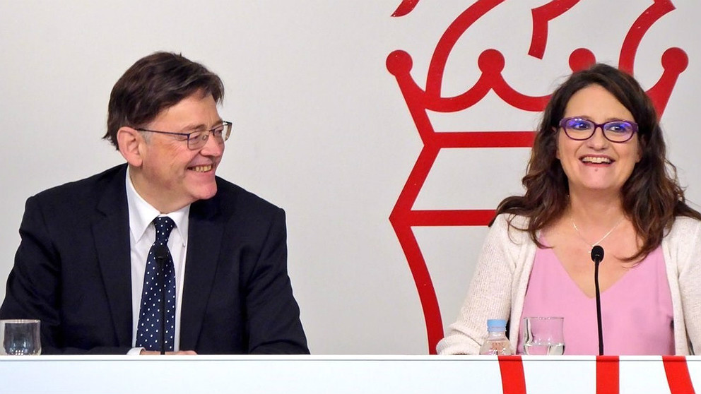 Ximo Puig, presidente de la Generalitat Valenciana, y Mónica Oltra, vicepresidenta. (EP)