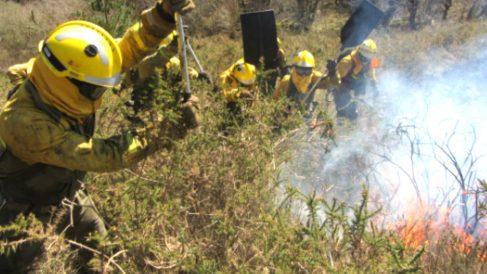 Imagen del incendio de San Vicente de Alcántara (Badajoz).