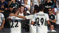 Bale celebra con sus compañeros su gol ante la Juventus (AFP).