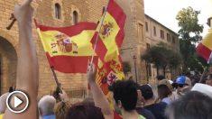 Los constitucionalistas exigen la dimisión de Francina Armengol en Palma de Mallorca.