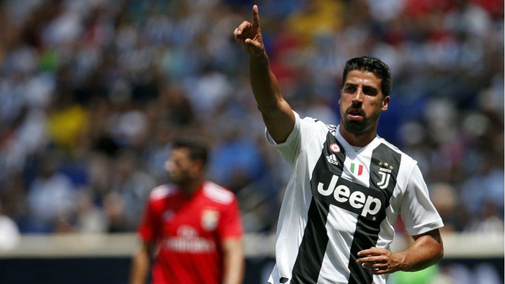 Sami Khedira, durante un partido de la International Champions Cup con la Juventus. (AFP)