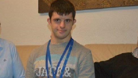 El campeón de España, de Europa y del Mundo en la categoría de Síndrome de Down, Carlos Hernández