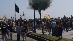 Policías nacionales y guardias civiles de País Vasco, Asturias, Galicia, Castilla y León y Cantabria han participado en esta manifestación. Foto: Europa Press