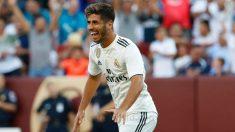 Asensio celebra un gol. (Realmadrid.com)