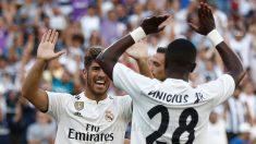 Asensio y Vinicius celebran un gol. (Realmadrid.com)