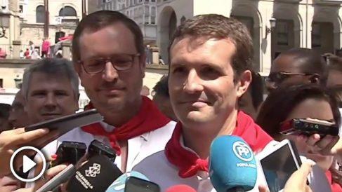 Pablo Casado, increpado por los radicales en las fiestas de Vitoria. Vídeo: PP
