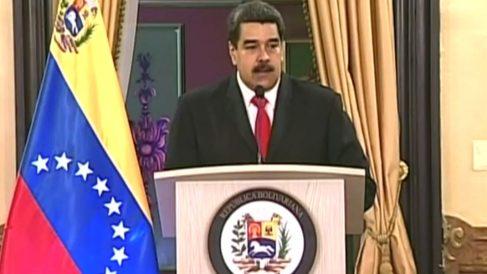 El dictador Nicolás Maduro, en su primera comparecencia pública tras el supuesto atentado.