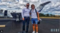 Luka Modric, tras regresar a Madrid de sus vacaciones. (@azimuthjett)