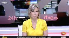 Mercedes Martel, presentadora de los informativos del canal 24 horas de TVE los fines de semana.