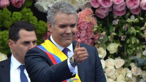 Iván Duque, en su toma de posesión como presidente de Colombia. (AFP)