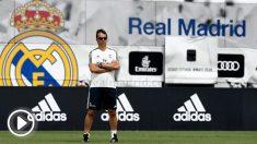 Lopetegui, en el entrenamiento del Real Madrid en Miami. (realmadrid.com)
