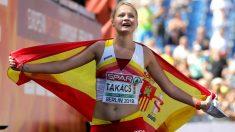 July Takacs, bronce en el Europeo de Atletismo. (Getty)
