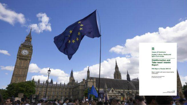 Informe de la injerencia rusa en el referéndum ilegal del 1-O elaborado por el Parlamento británico.