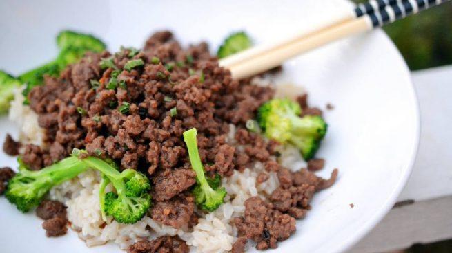 Receta de arroz con carne picada