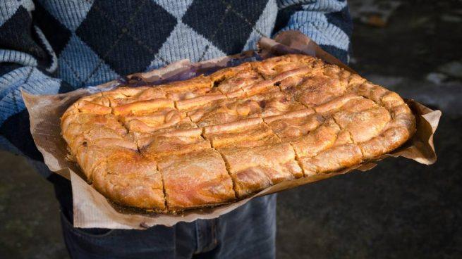 empanada de morcilla y pera