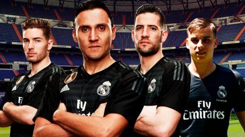 Luca Zidane, Keylor Navas, Kiko Casilla y Lunin.