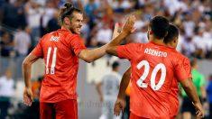 Gareth Bale y Marco Asensio celebran uno de los goles del Real Madrid – Roma. (realmadrid.com)