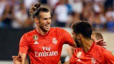 Bale celebra con Asensio el segundo gol del Real Madrid.