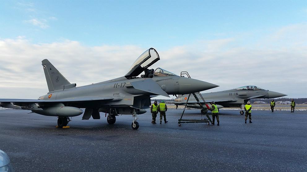 Avión Eurofighter de la Fuerza Aérea Española. (EP)