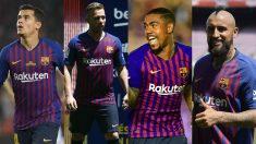 Coutinho, Arthur, Malcom y Vidal ocupan plaza de extracomunitario, mientras que solo se permiten tres.