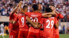 Los jugadores del Real Madrid celebran uno de los goles frente a la Roma. (realmadrid.com)