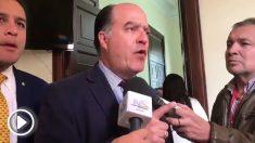 Julio Borges responde a Nicolás Maduro, que lo ha mandado detener acusándolo de intento de atentado.