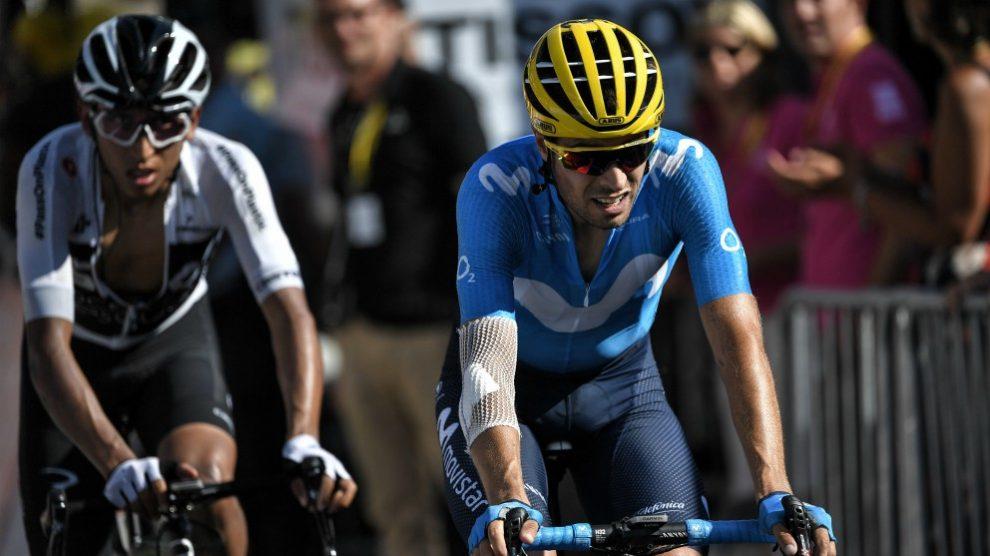 Mikel Landa, en una etapa del Tour. (AFP)