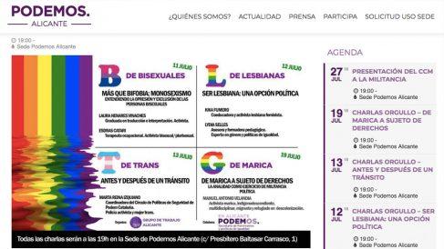 Charlas políticas contenido sexual Podemos