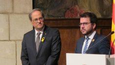 Quim Torra, presidente de la Generalitat, y su número 2, Pere Aragonès. (EP)