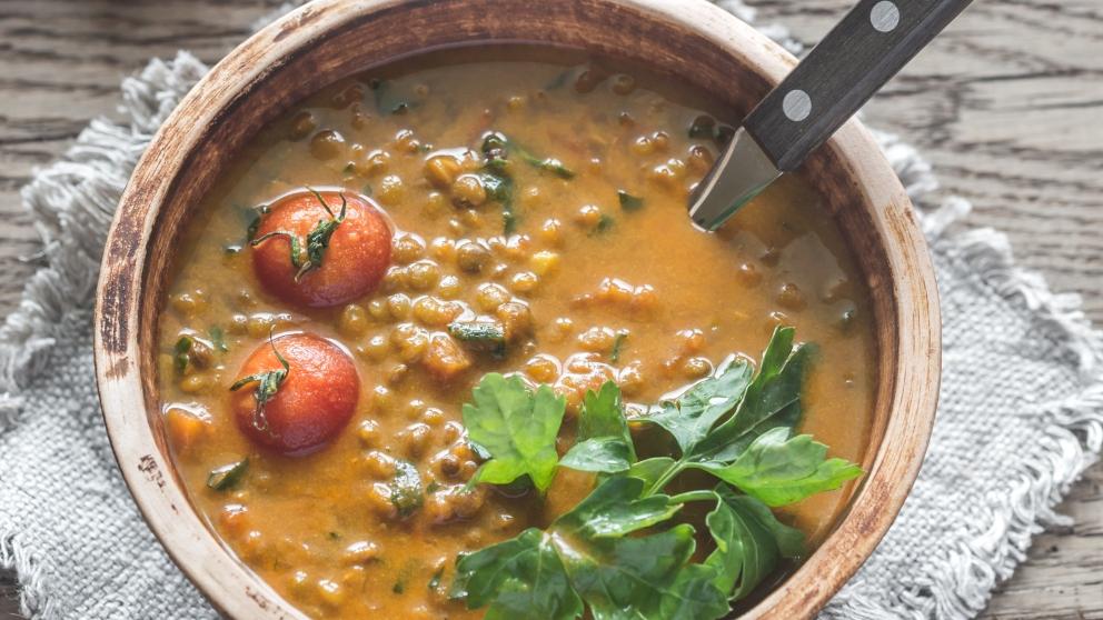 Receta de lentejas con curry