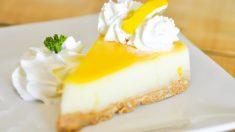Receta de tarta de limón y queso