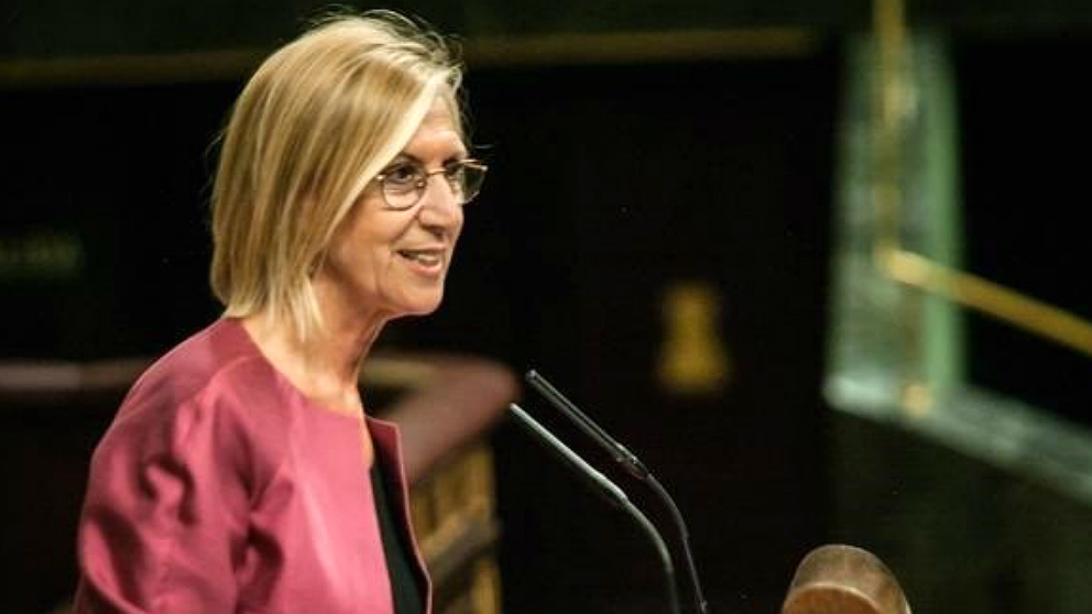 Rosa Díez, ex líder de UPyD, cuando era portavoz de la formación en el Congreso. (EP)