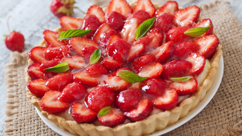 Receta de tarta de fresas y crema, la más rápida y deliciosa del mundo