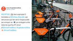 Tuit de Arran sobre el robo de las bicicletas.