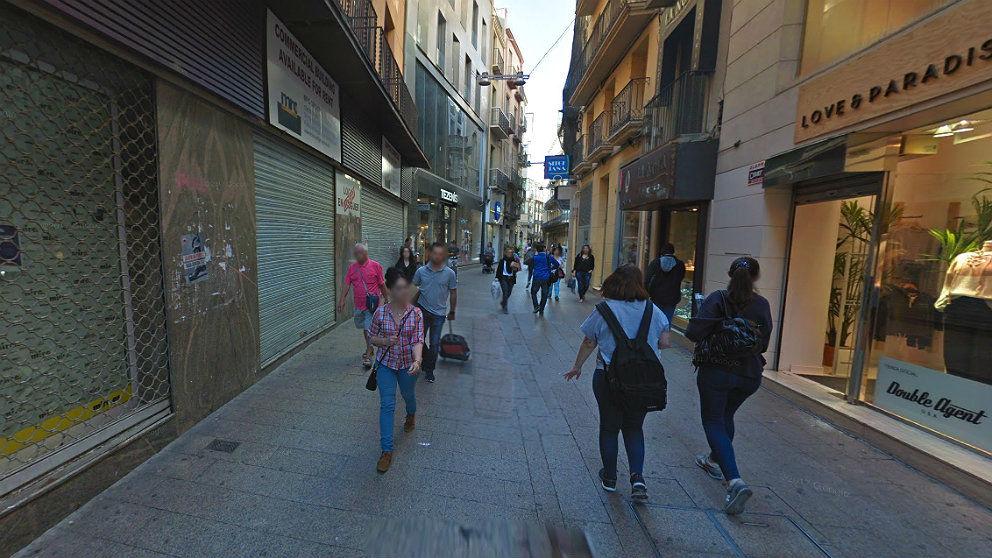 Calle Mayor de Lérida, donde se produjo el suceso.