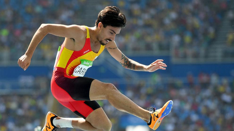 Fernando Carro, durante una carrera. (Getty)